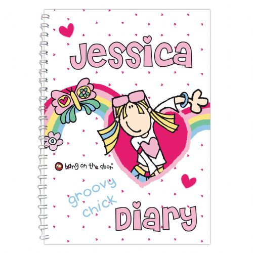 Personalised Bang on the Door Groovy Chick Diary